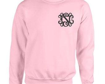 Monogrammed crewneck sweatshirt – Etsy