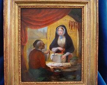Eycken, Jean Baptiste van, 1809-1853. Antique oilpainting.