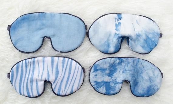 Indigo Sleep Mask,  Organic  Sleep Mask, Travel Mask, Eye Mask, Organic Gift, Sleep Gift, Boho Gift