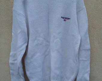 BIG SALE!!! Vintage Polo Sport knitwear Ralph Lauren sweatshirt sweater size L 22inches chest width