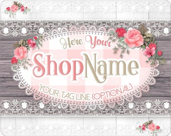 Rustic Shop Banner, Premade Etsy Shop Set, Premade Avatar, Wooden Shop Banner, Etsy Cover Photo, Etsy Shop Icon, Facebook Cover Photo