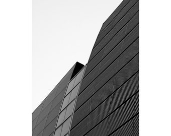 The Curve - Fine Art Photography, Black and White Print, Architecture, Abstract, Repetition, 16 x 20, Custom Sizes