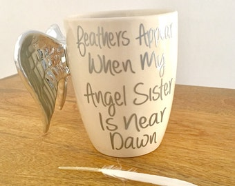 Because Someone We Love Is In Heaven, Angel Feathers, With Sympathy, Memorial Gift, Special Keepsake, Gift For Loved One, Cherubs ,