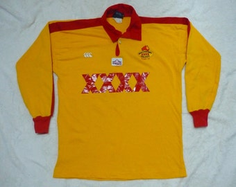 Vintage CANTERBURY XXXX GOLDIES Quensland Rugby Shirts Color Blocked Spellout Big Logo Sweatshirts