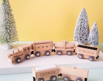Personalized toy etsy wooden magnet train set personalised toy wooden toy train personalized toy wooden negle Gallery