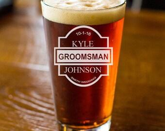Engraved Groomsmen's Gifts Pint Glasses (JM6832761)