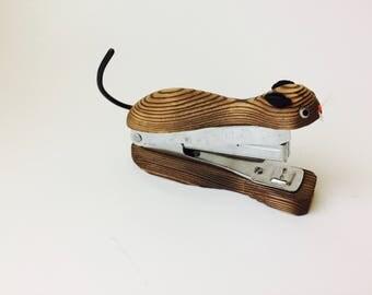 Vintage OMC Japan Wood Cat Stapler/OMC Japan/Vintage Stapler/Vintage Office/Wood Stapler/Cat Stapler/MCM Office