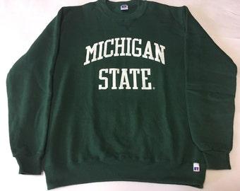 Michigan State Sweater Green M