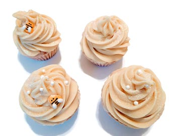 Honey cocoa cupcake soap, lightly scented, artisan soap, dessert soap, handmade, treat, gift, teen, sweet soap, dessert soap, soapy cake