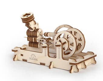 wooden puzzle moving model kit diy moving mechanical wooden