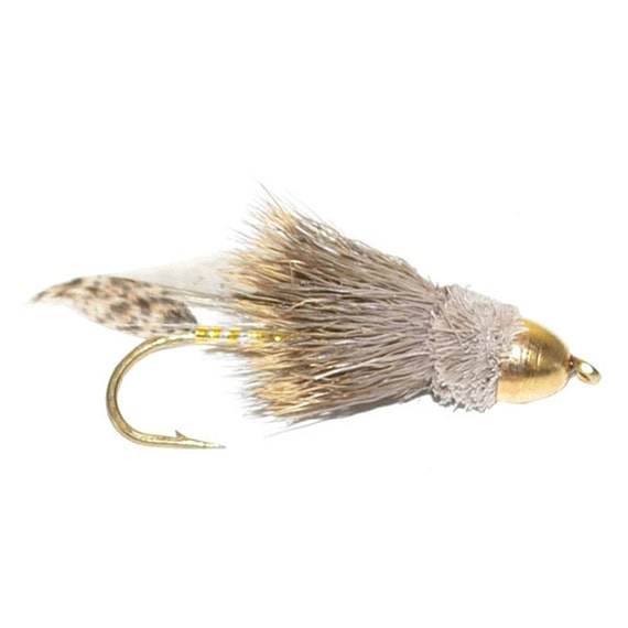 Hand-Tied Fly Fishing Trout Flies: Cone Head Muddler Minnow Classic Streamer Wet Fly - Hook Size 4