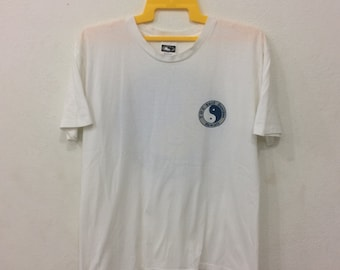 Rare!!Vintage 90's T&C SURF Hawai Tshirt Big Logo Spell Out Street wear hip hop swag White Colour Medium size made in USA