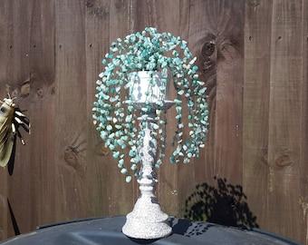 Amazonite gemstone tree, gem tree, crystal tree, feng shui tree, wealth tree, bonsai tree,  wire tree, wire tree sculpture, home decor,