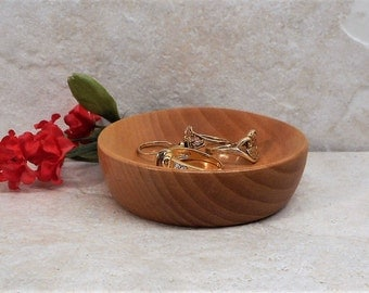 Ring Dish,Ring Holder,Jewelry Dish,Ring Storage,Handmade Wood Ring Dish,Cherry Wood Ring Holder,Wooden Ring Holder
