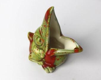 Vintage Ceramic Baby Pelican Sponge Holder