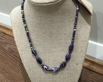 "Jasper Gemstone Oval Beads necklace strand 16"""