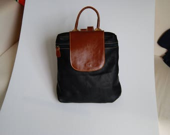 Genuine leather woman little backpack