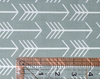 Grey Arrow Fabric, Cotton Fabric, Quilting Fabric, Fabric by the Yard, Tribal Fabric, Grey Arrows