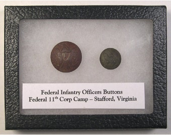 Federal Infantry Officers Buttons – Civil War – Federal 11th Corp Camp – Stafford, Virginia