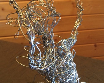 Crinoline steel wire sculpture