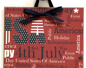 Happy 4th of July / Independence Day / Fourth of July Decor / 4th of July Sign / 4th of July Collage Sign / #12
