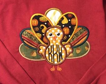 Turkey Long Sleeved Monogram Shirt!