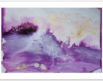 Purple Hand Painted Acrylic Painting, Original Art, Original Abstract Painting, Gifts, Purple Painting, Abstract Art
