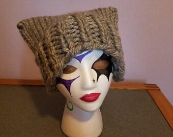 Gray Sparkle Cat Hat