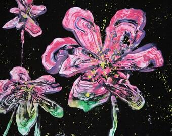 Abstract Art, Flower Painting, Flower Art, Spray Paint, Spray Paint Art, Spray Painting, Flower Spray Paint Art, Abstract Painting, Flower