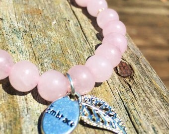 "Rose Quartz ""embrace"" bracelet"