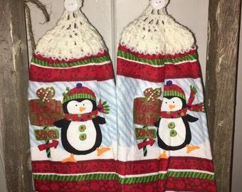 Penguin Christmas Tea Towels