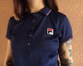 Fila Vintage 90s Polo t-shirt Rare Item