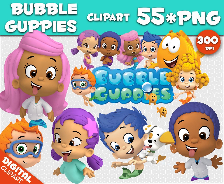 Bubble guppies clipart 55 png 300dpi images digital clip art christmas tree green clipart - Bubulles guppies ...