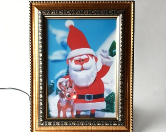 Rudolph Blinking Nose Picture Stop Motion Animated Movie
