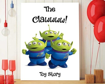 Toy Story Printables, Disney Quotes, Squeeze Toy Aliens, Little Green Men, Nursery Decorations, Birthday Party Decor