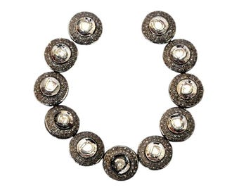 SDC-1450 Polki Beads flat round