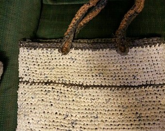 Crocheted Bag from recycled plastic bags