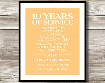 10 Year Anniversary Etsy