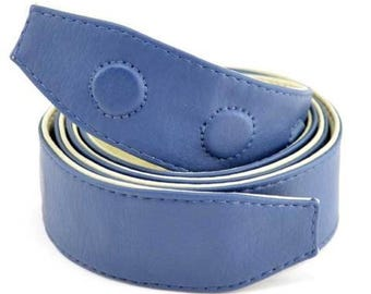 Reversible vegan belt (includes 1 stainless steel circular buckle)