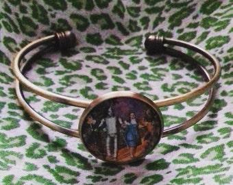 Wizard of Oz bronze bangle