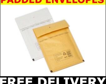 1400 pcs. Size A 100x165 mm  PADDED  BUBBLE ENVELOPES  **Free Delivery** enveloppes à bulles, sobres de la burbuja, bubbel kuvert ,