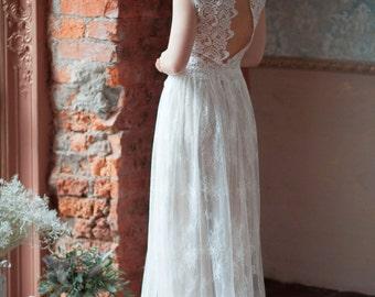 Rosa / Lace wedding dress / Light and comfortable / Boneless / Two piece
