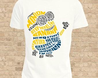 Minion Mens T Shirt, Women Flattering Fit also available, Fun Minion Tee Shirt, Ideal Minion Gift, Fandom