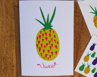Card 'Sweet Pineapple'