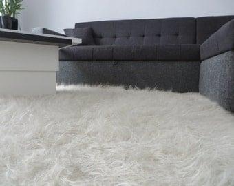 flokati rug fuzzy sheep skin woven rugpremium grey shag fur area rug