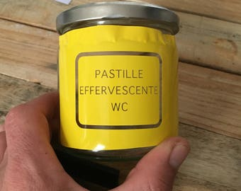 """Pot for WC effervescent tablet in mode """"Zero waste"""""""