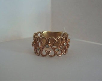 Double Sided Heart Ring