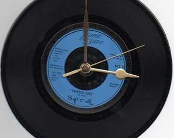 """Soft Cell - Tainted Love 7"""" Vinyl Record Wall Clock"""