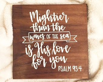 Psalm 93 Hand Lettered Sign