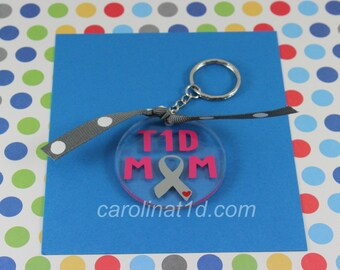 T1D Mom keychain